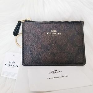 Coach NWT | Brown & Black Signature Leather Wallet